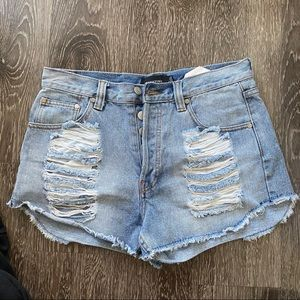 MinkPink Slasher Flick Cutoff Denim Shorts